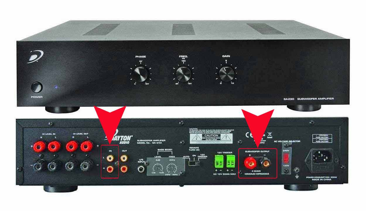 hight resolution of dayton audio sa230 subwoofer amplifier