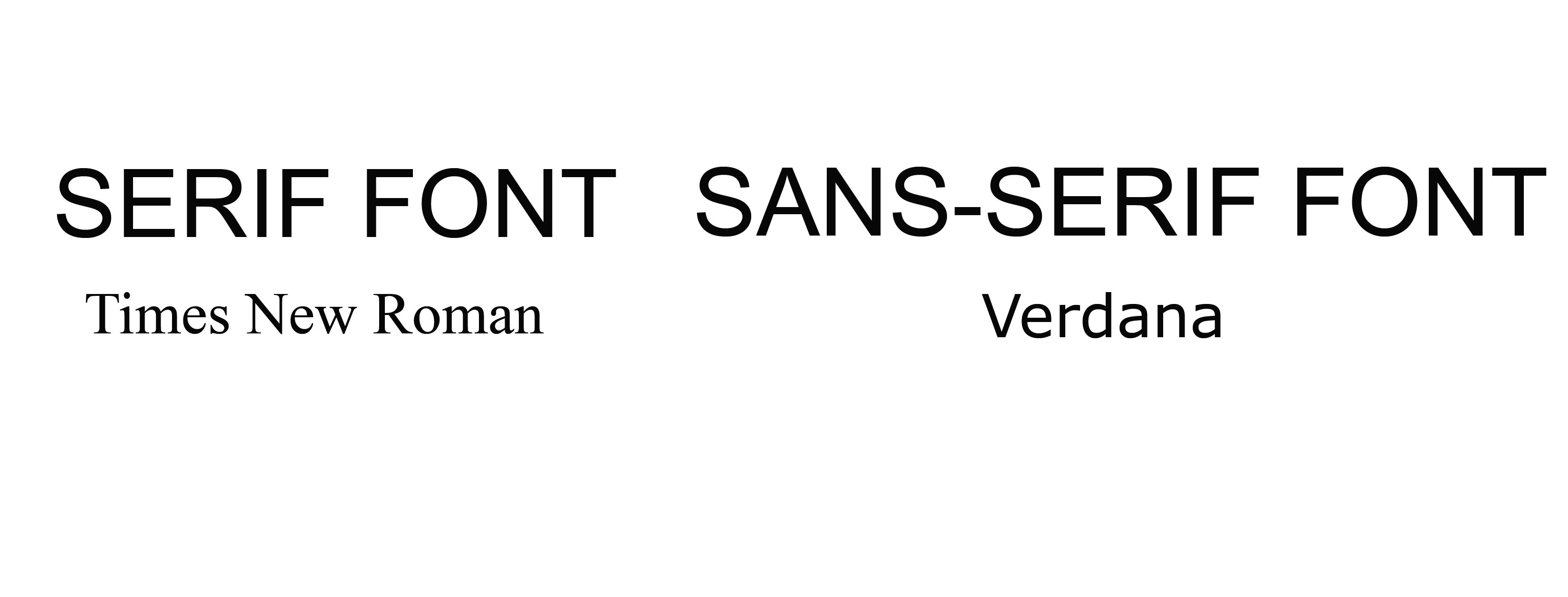 What Is a Serif Font?