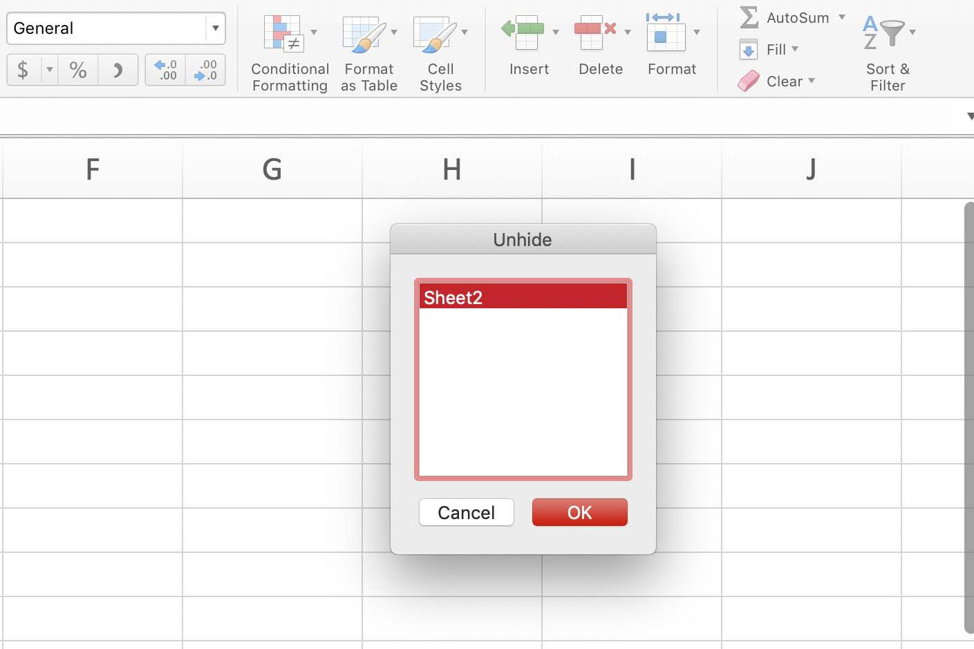 Hide And Unhide A Worksheet In Excel