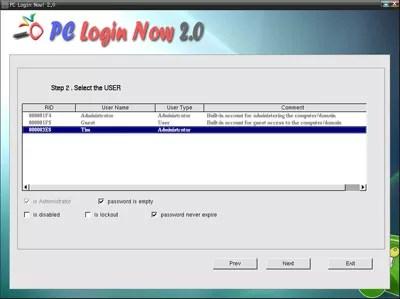 شاشة تحديد المستخدم لتسجيل الدخول إلى الكمبيوتر الشخصي