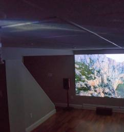 one tester who mounted his projector 10 feet from a wall in his basement commented the visual quality is much better than my 1080p projector the setup  [ 1500 x 1000 Pixel ]