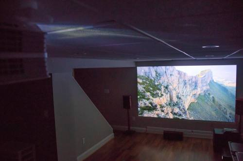 small resolution of one tester who mounted his projector 10 feet from a wall in his basement commented the visual quality is much better than my 1080p projector the setup
