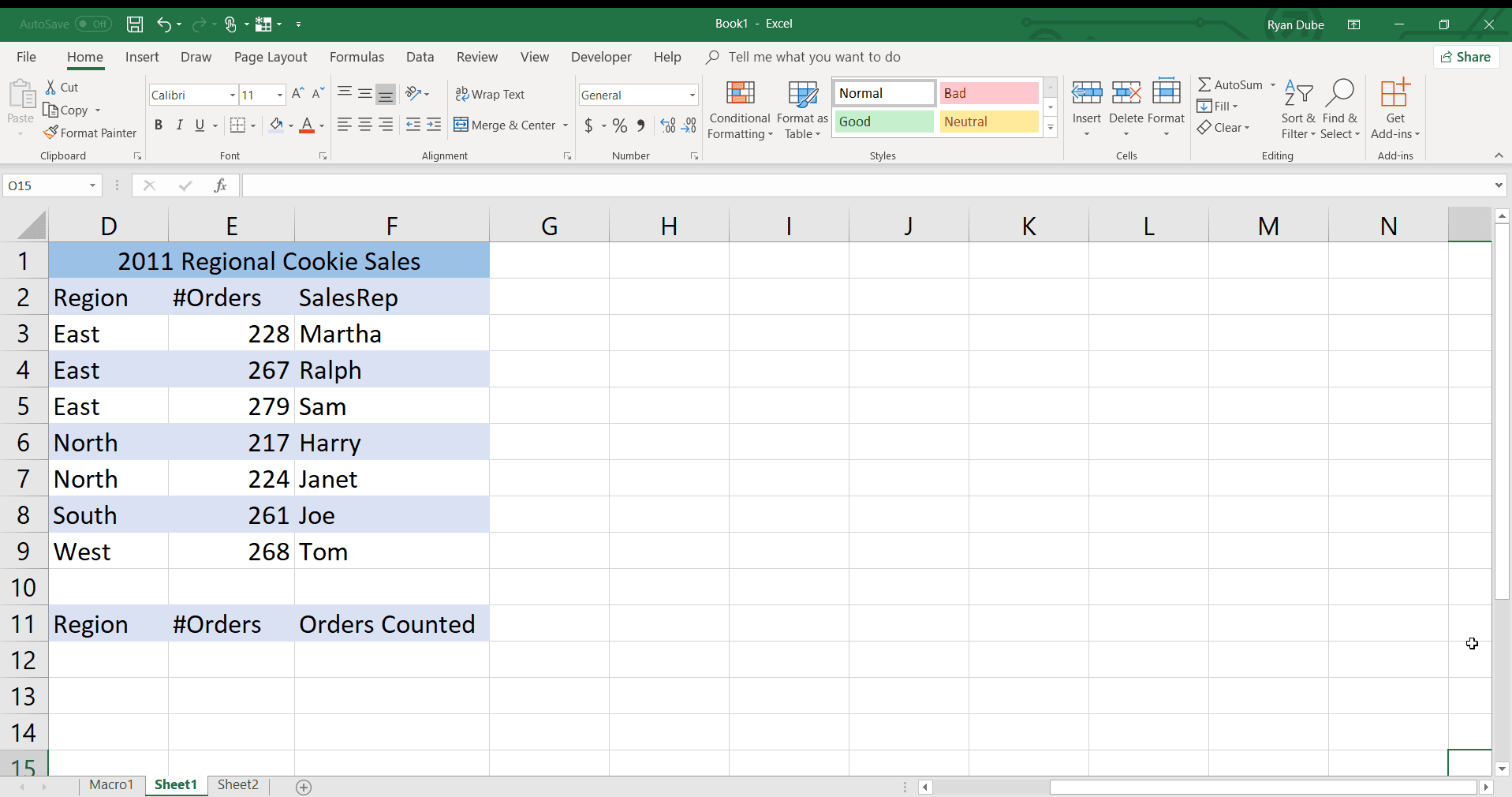 Count Data That Meets Criteria With The Excel Countifs