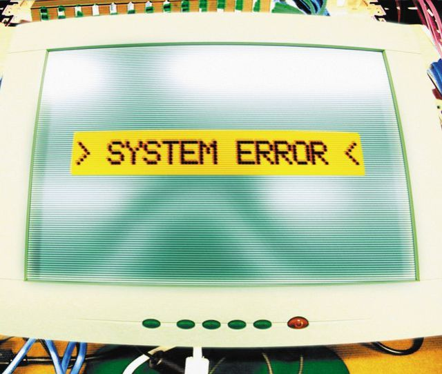 Picture Of A Computer Error Message That Says System Error