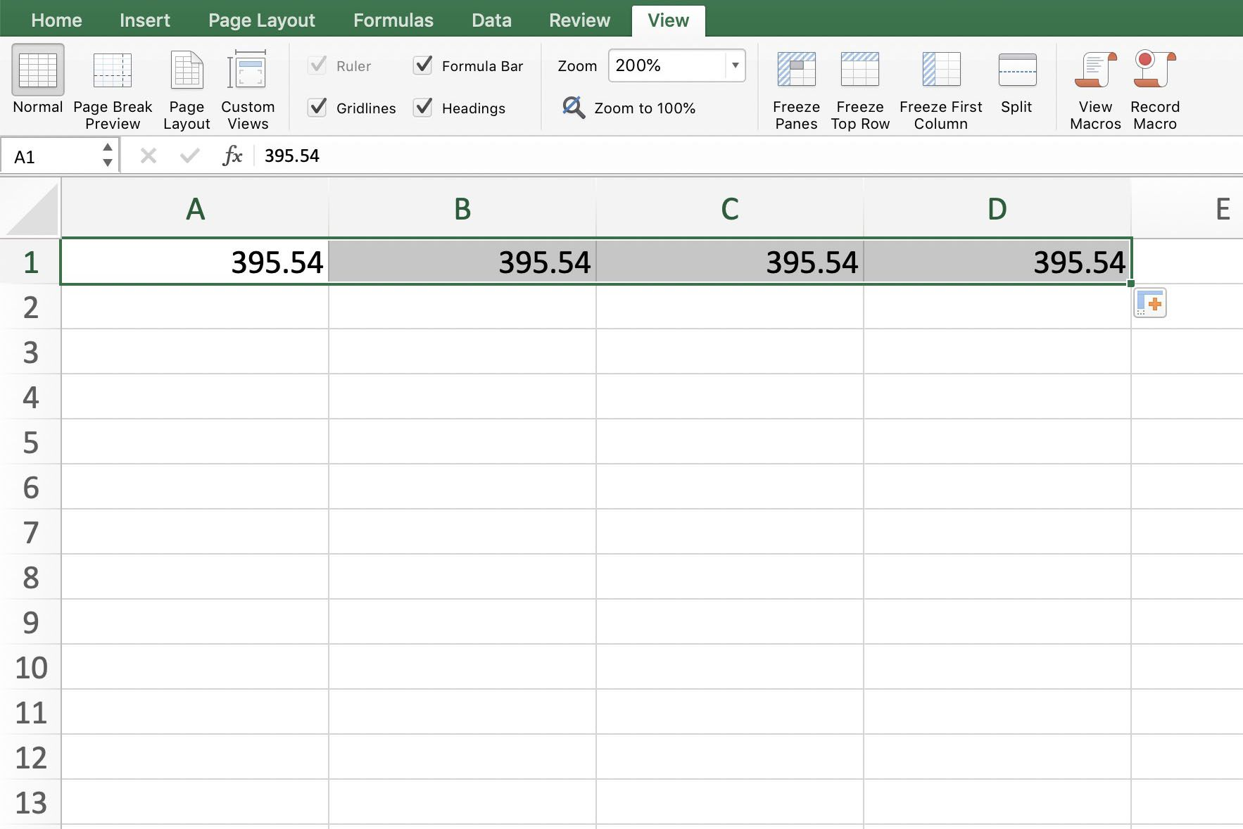 Use Excel S Fill Down Command With Shortcut Keys