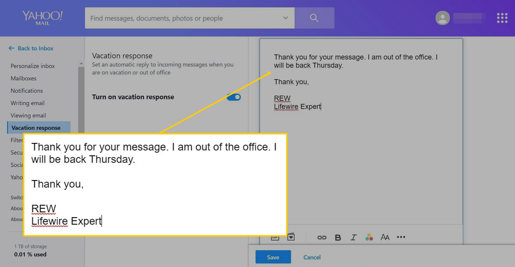 How To Set Up Yahoo Mail Auto Reply