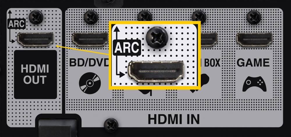 medium resolution of hdmi arc connection example home theater receiver