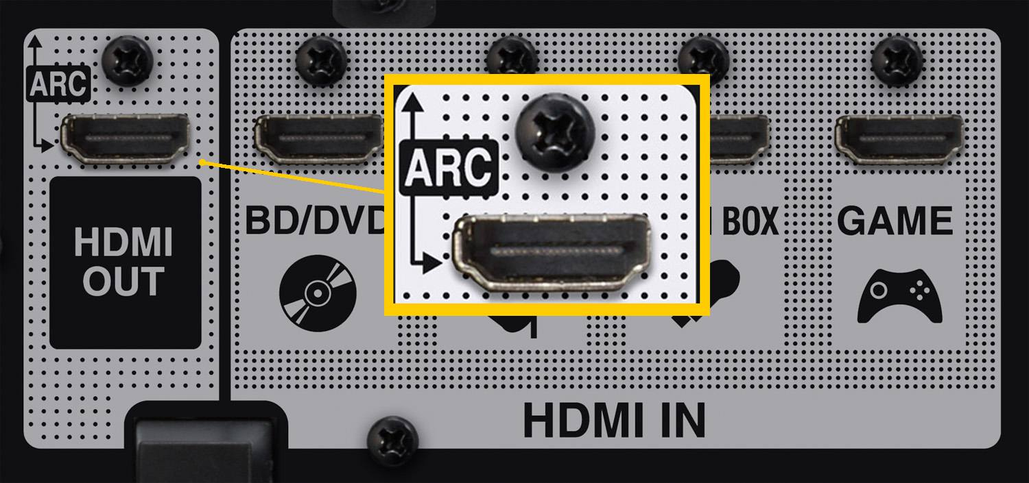 hight resolution of hdmi arc connection example home theater receiver