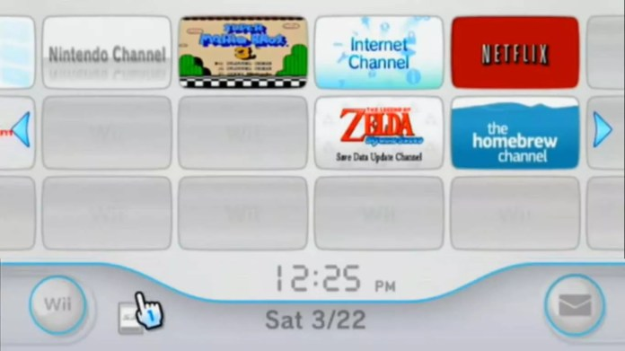 Launch the Homebrew Channel from the Wii main menu.