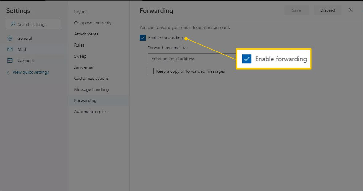 How to Forward Outlook Mail to Another Email Address