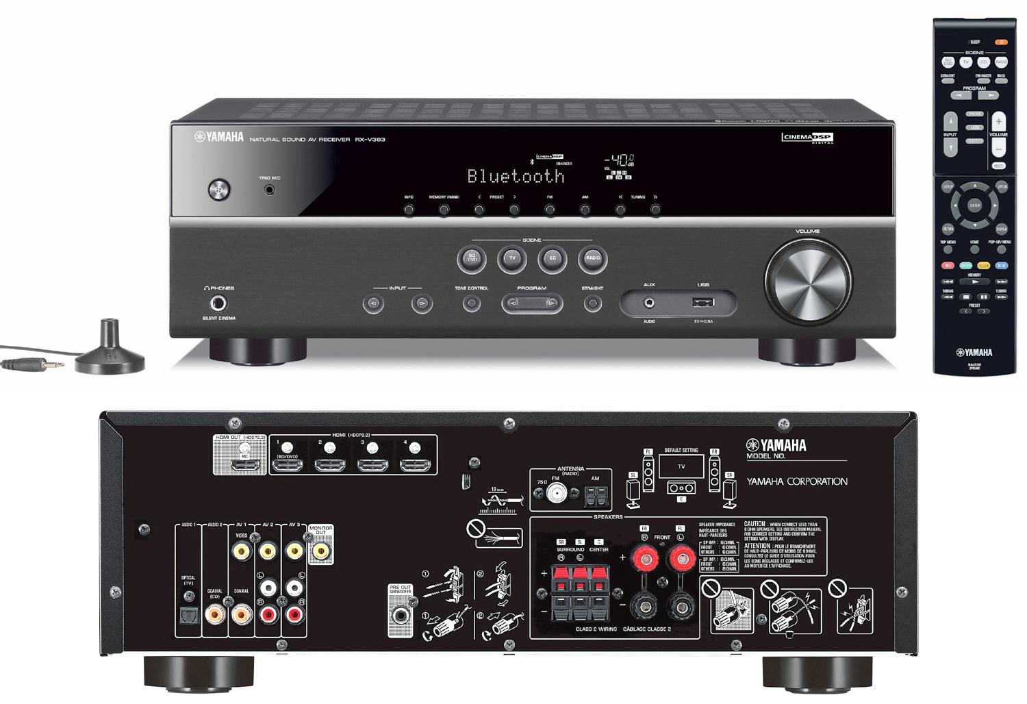 hight resolution of yamaha rx v383 5 1 channel home theater receiver
