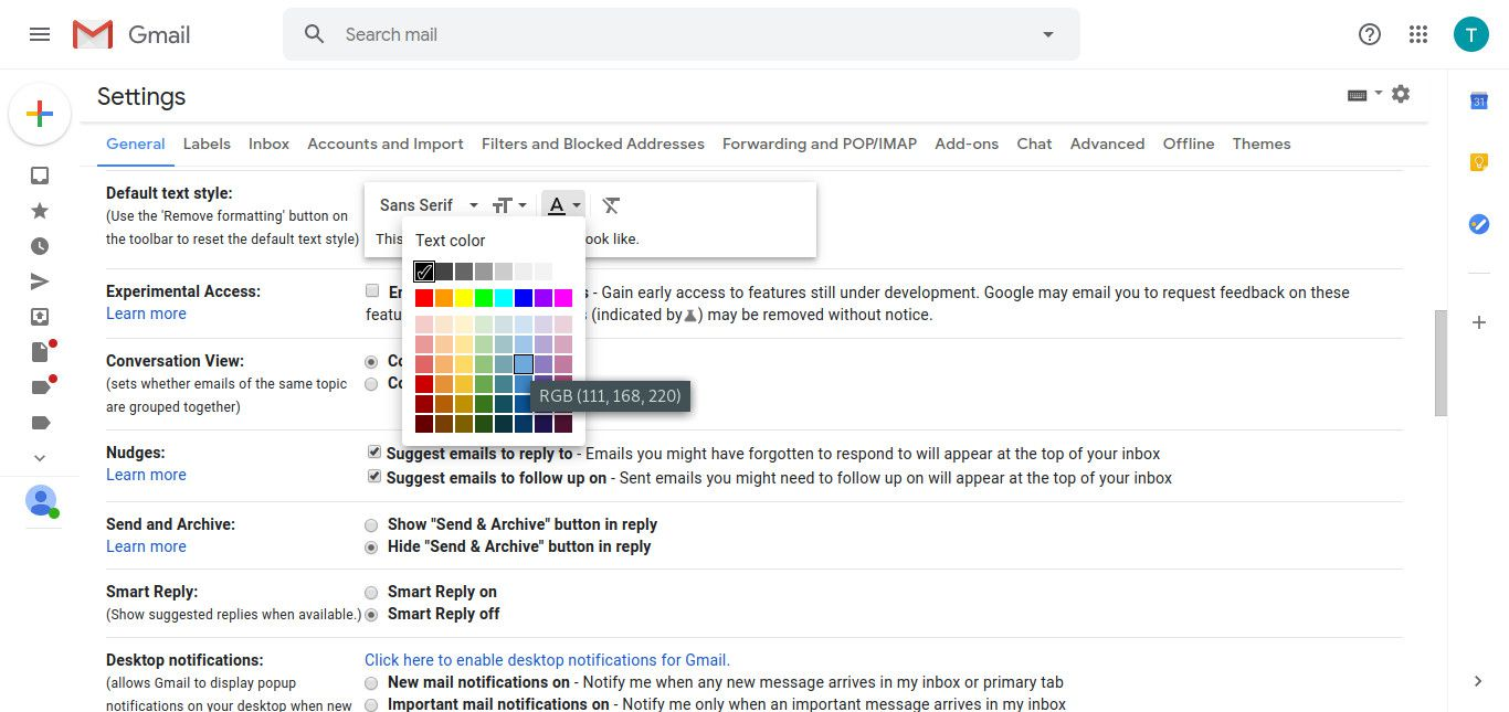 How to Change Gmail's Default Font Options