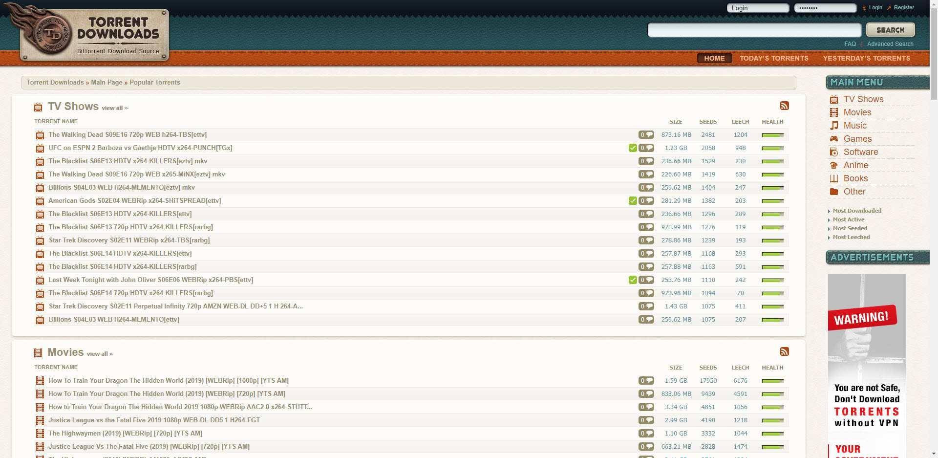 top torrent sites updated