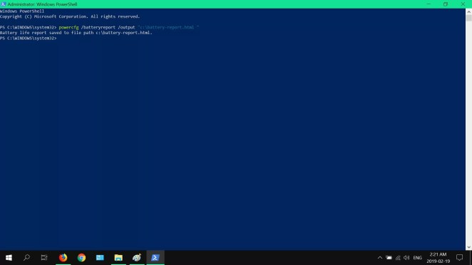 Laporan Baterai Windows 10