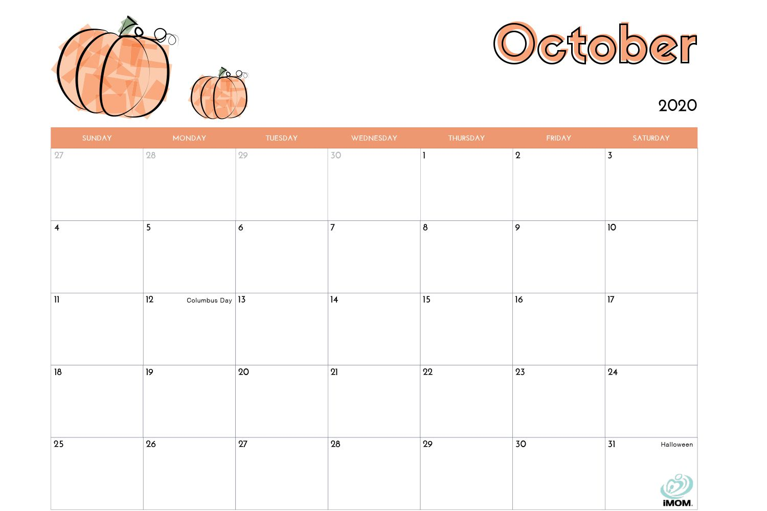 Free Calendar Templates for Parents and Kids