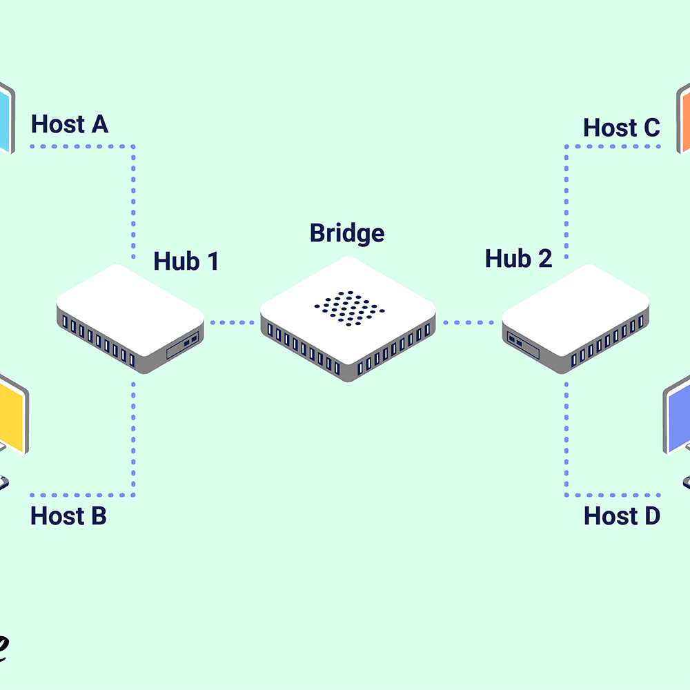 hight resolution of explain network bridge diagram