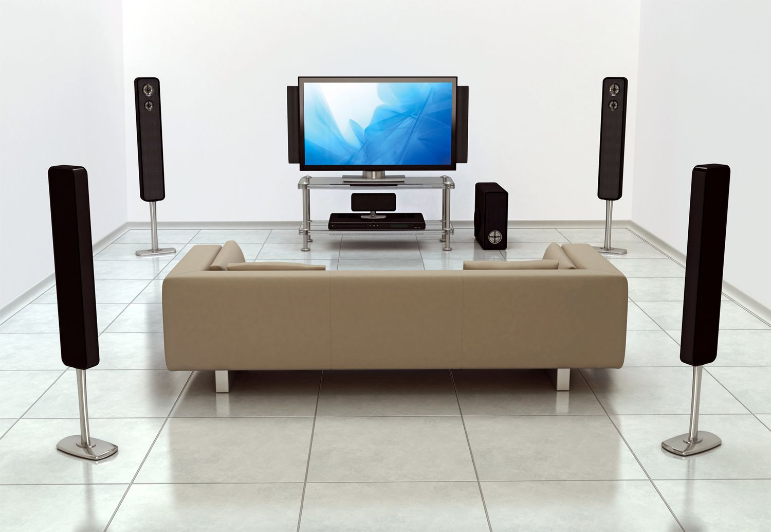 hight resolution of home theater surround sound setup