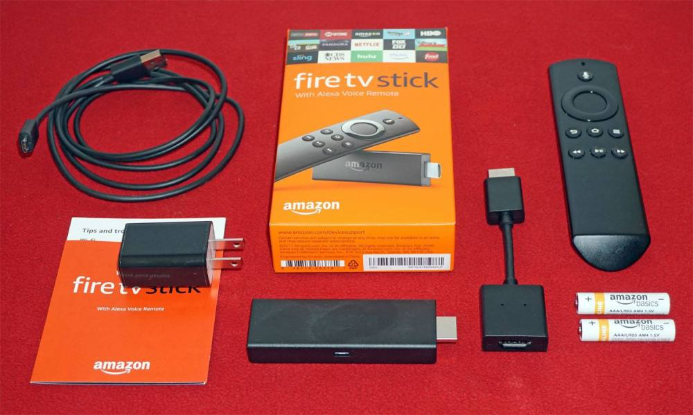 medium resolution of amazon fire tv stick with alexa voice remote package