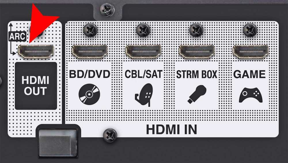 medium resolution of home theater receiver with hdmi arc connection