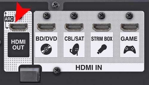 small resolution of home theater receiver with hdmi arc connection