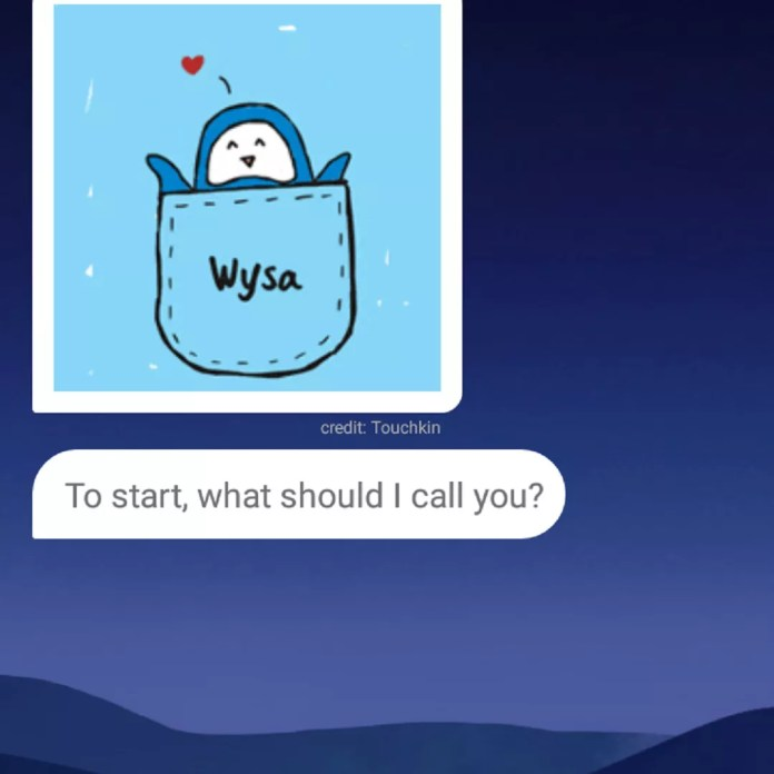 Wysa app's chatbot function