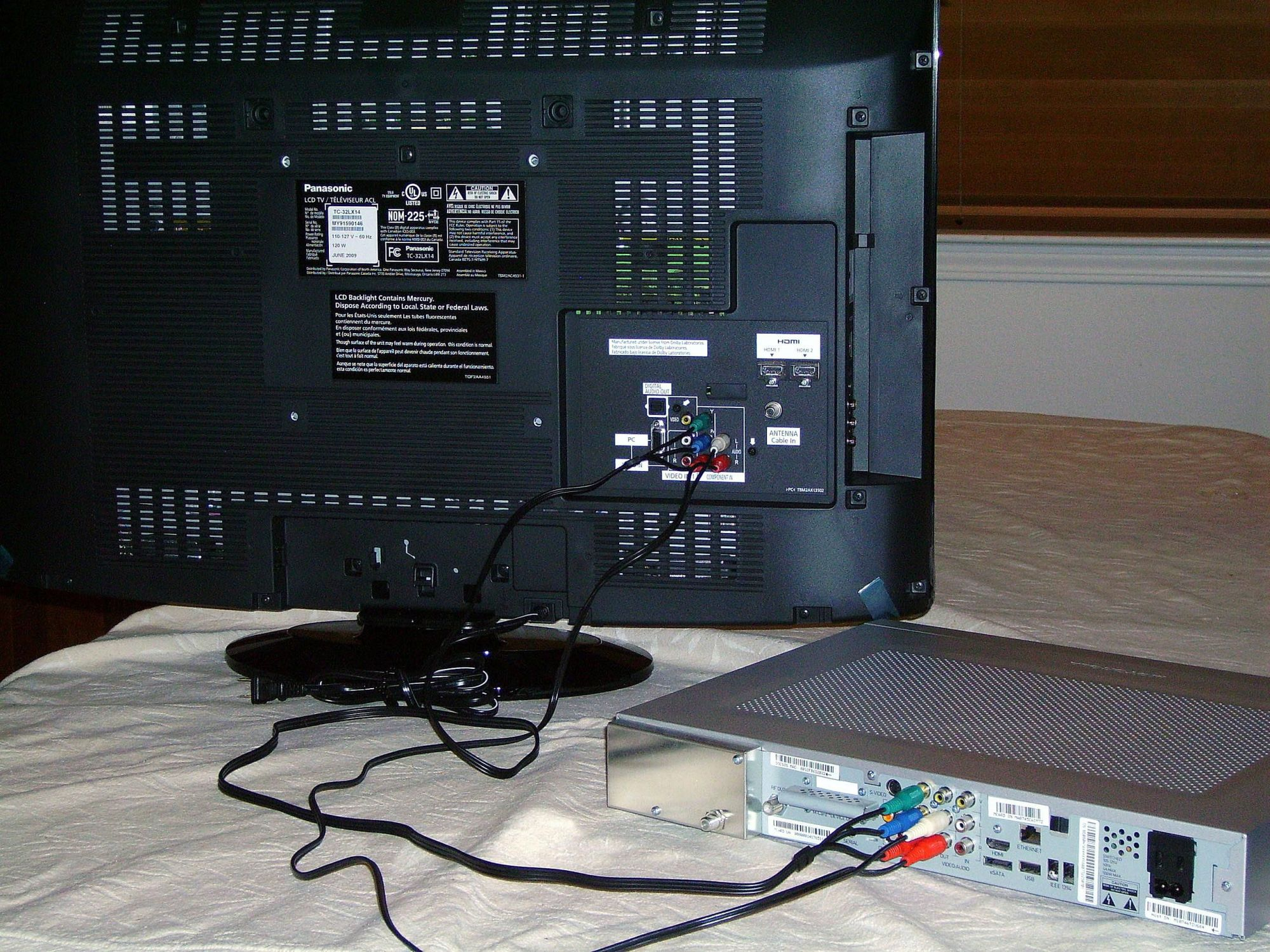 hight resolution of a completed component video connection forrest hartman