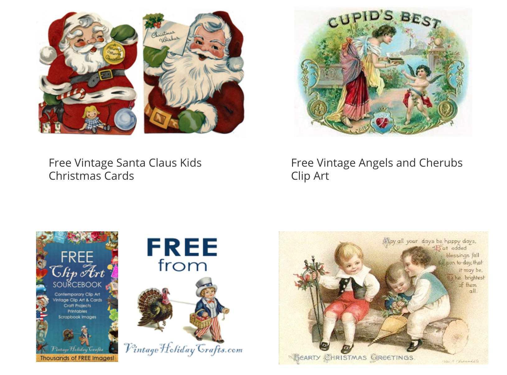 hight resolution of vintage christmas clip art