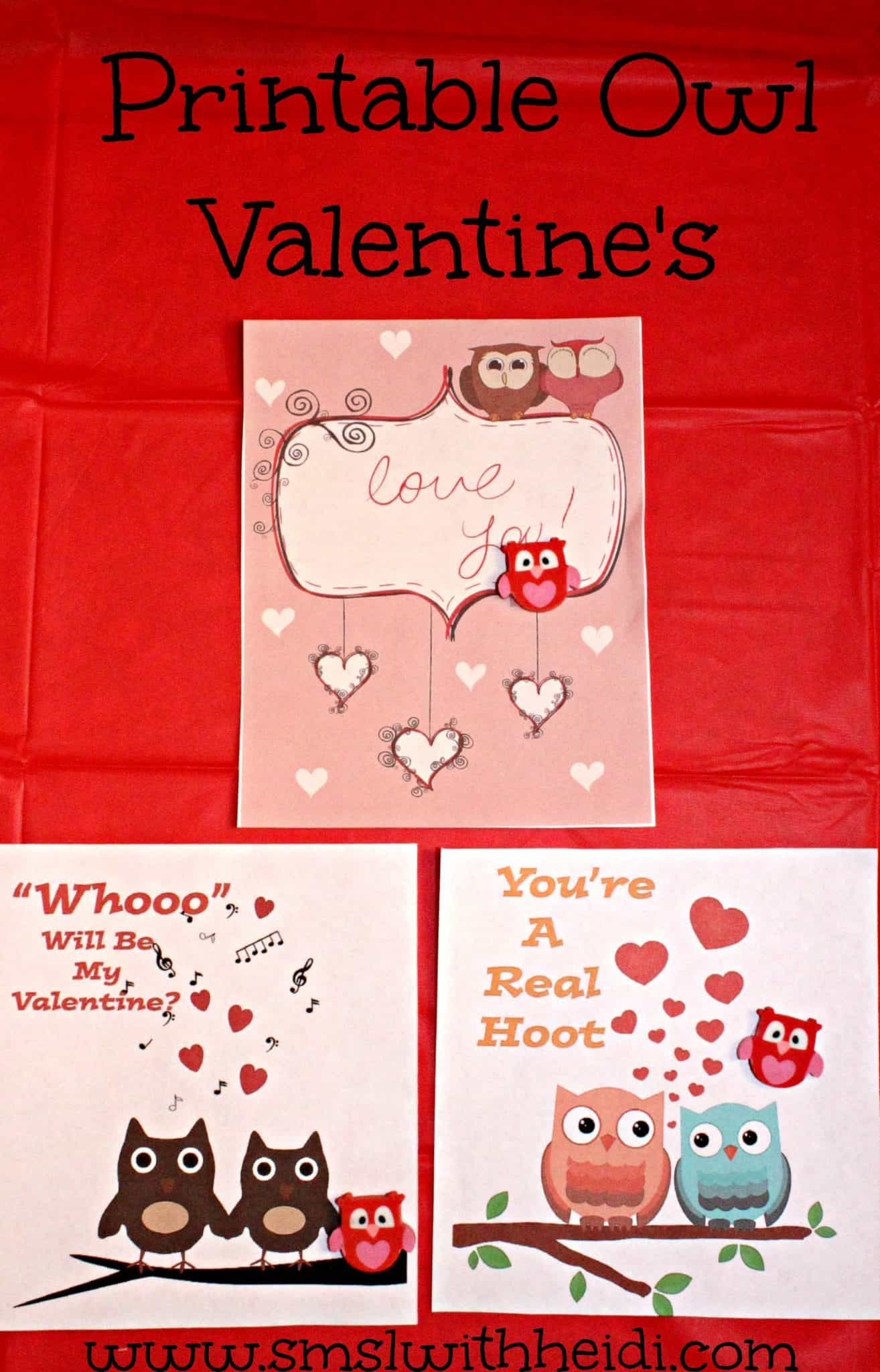 Owl Valentines Day Cards