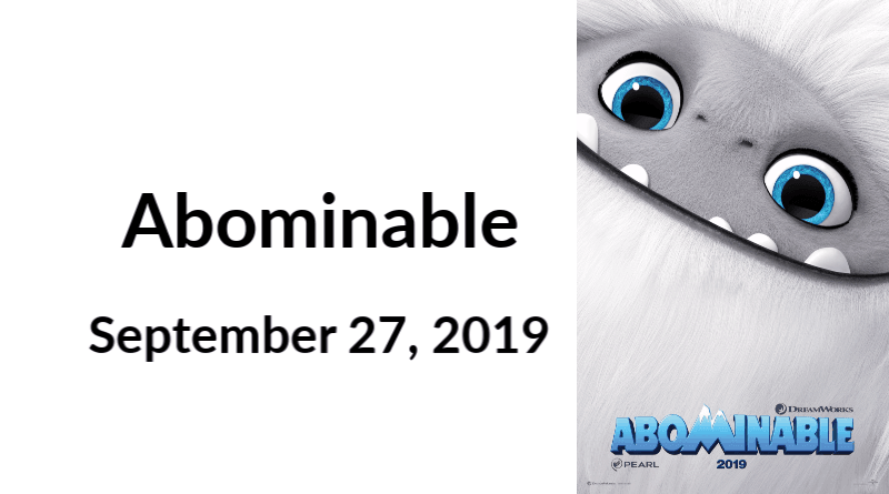 Abominable in Theaters September 27