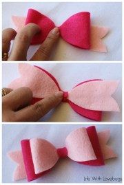 sew felt hair bow - life