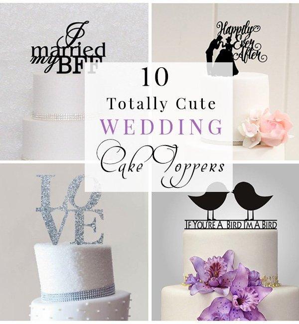 10 cute wedding cake topper ideas