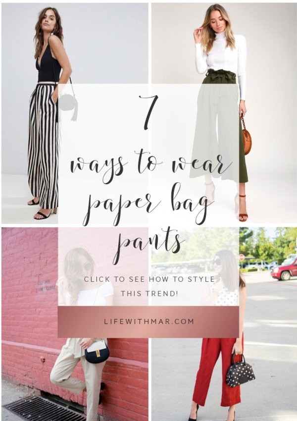 7 ways to wear paper bag waist pants