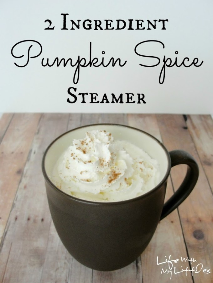 2 Ingredient Hot Pumpkin Spice Steamer