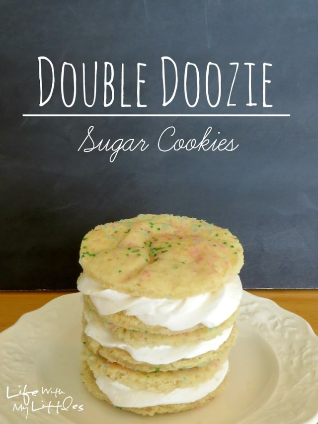 Easy Double Doozie Sugar Cookies: A quick, three-ingredient copycat recipe that is delicious and fast. Perfect for bake sales and school parties!