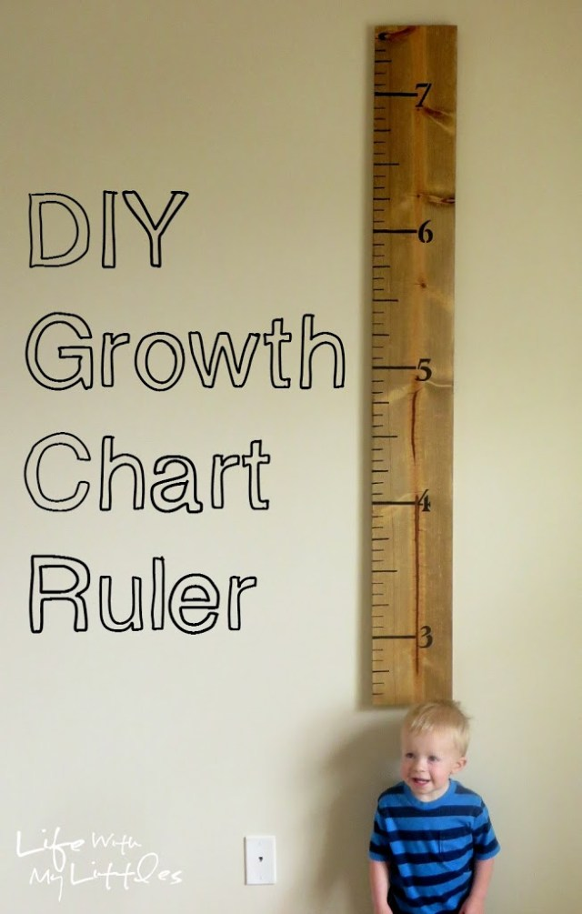 Diy Growth Chart Ruler Life With My Littles