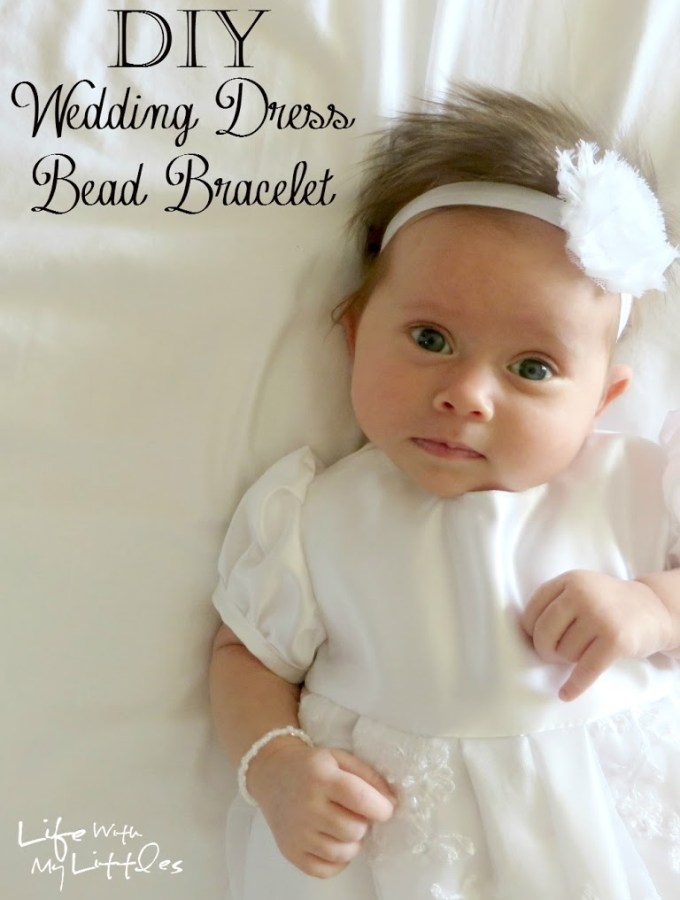 Things to Do With Your Wedding Dress: DIY Wedding Dress Bead Bracelet