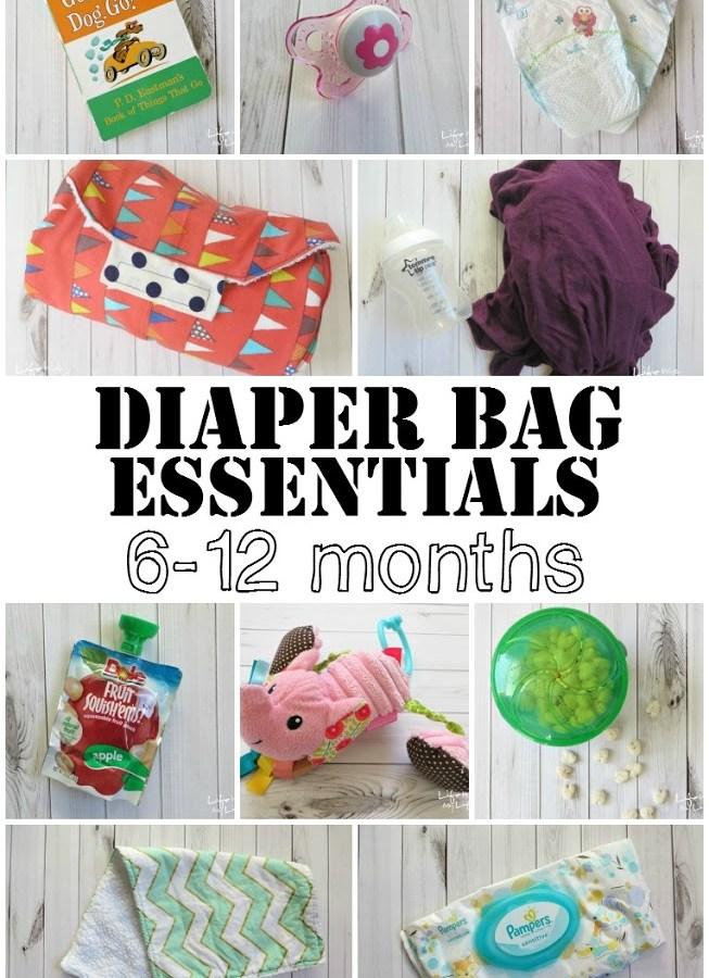 Diaper Bag Essentials: 6-12 Months