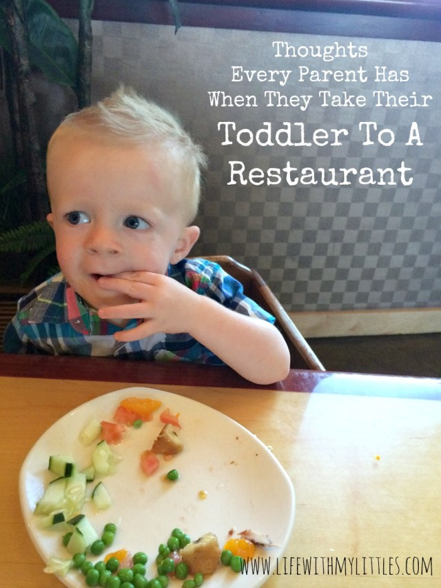Thoughts every parent has when they take their toddler to a restaurant. A funny look at how ridiculous it is to eat out with your toddler.