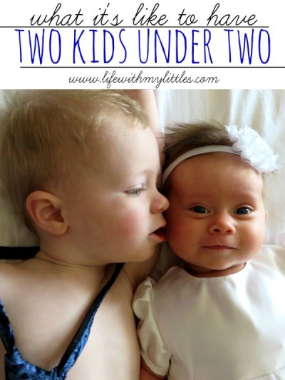 A mom of kids 18 months apart reveals what it's like to have two kids under two. If you have kids close in age, you will love this!