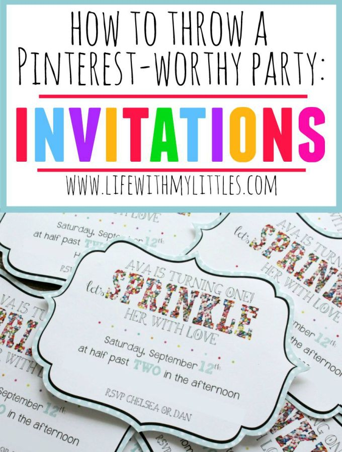 How to Throw a Pinterest-Worthy Party: Invitations