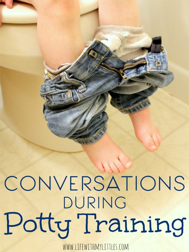 "You'd be surprised how ""dirty"" conversations become when you are potty training your toddler. Here are a few examples."