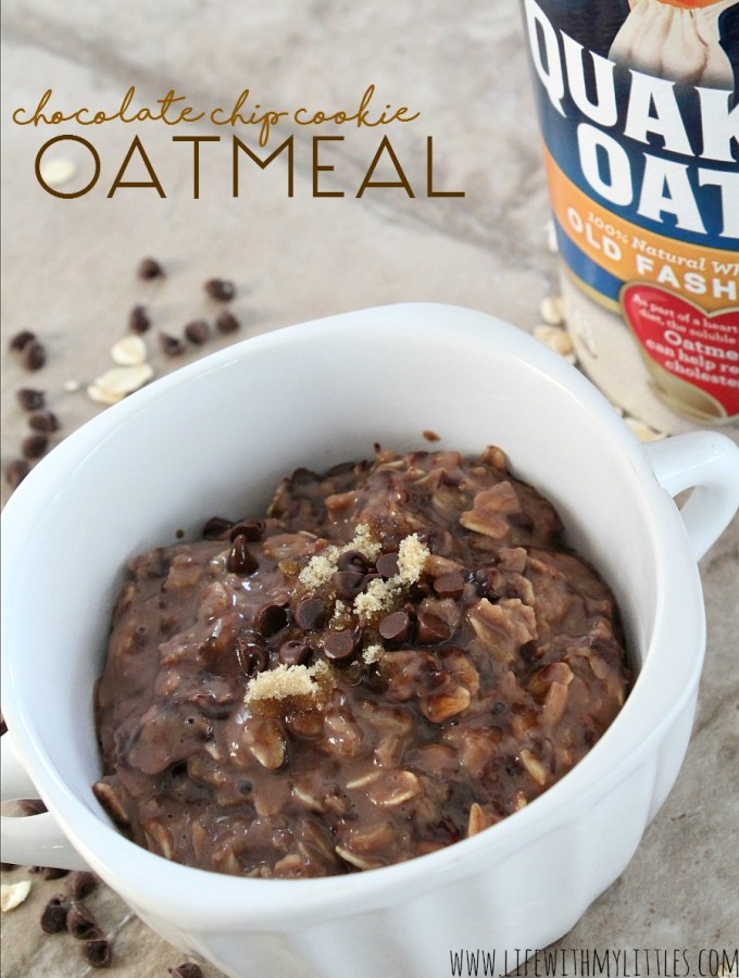 Chocolate Chip Cookie Oatmeal