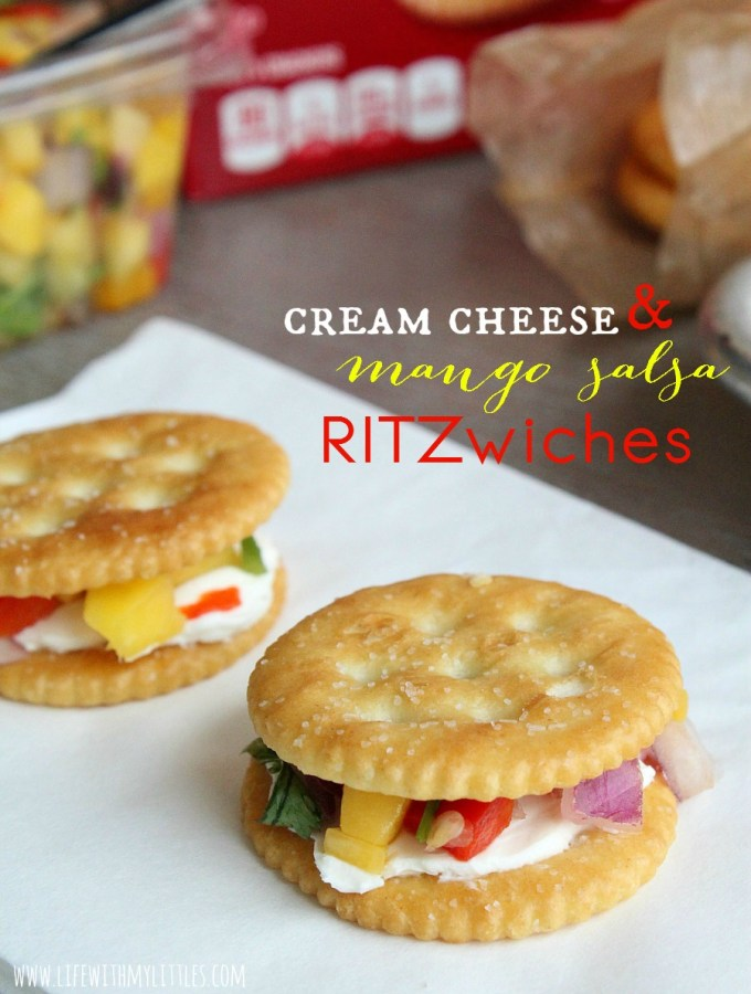 Cream Cheese and Mango Salsa RITZwiches