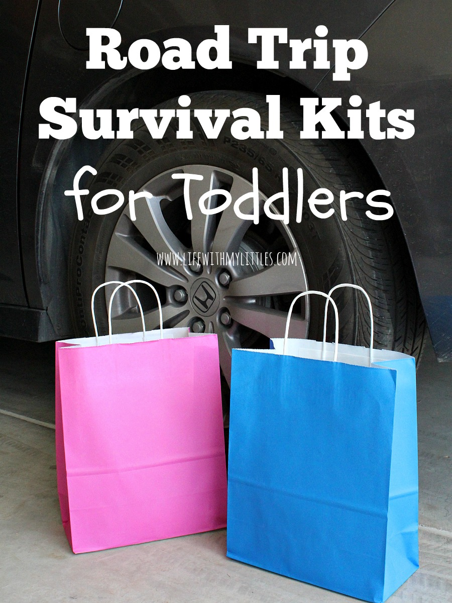 This road trip survival kit for toddlers is genius! And the perfect road trip idea for toddlers! They'll stay busy and won't complain or cry!