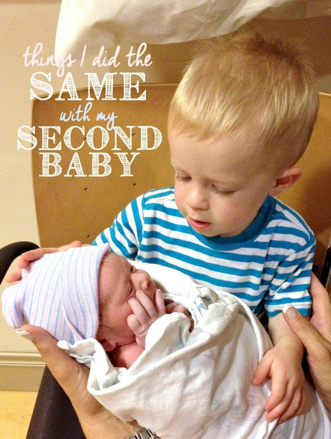 Things I Did the Same With My Second Baby