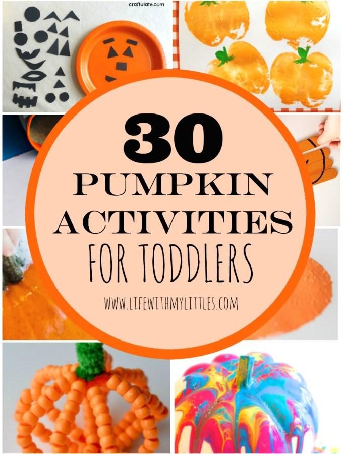 30 Pumpkin Activities for Toddlers