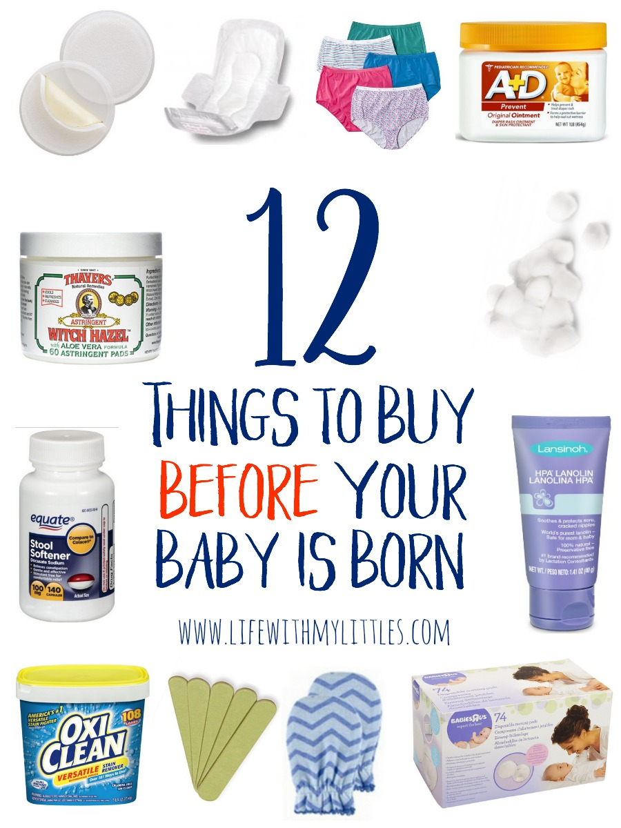 These 12 things to buy before your baby is born are genius! Great ideas of things you would never think of from a mom of three! Definitely things you won't see on a regular baby must-have list, and I love her explanations!