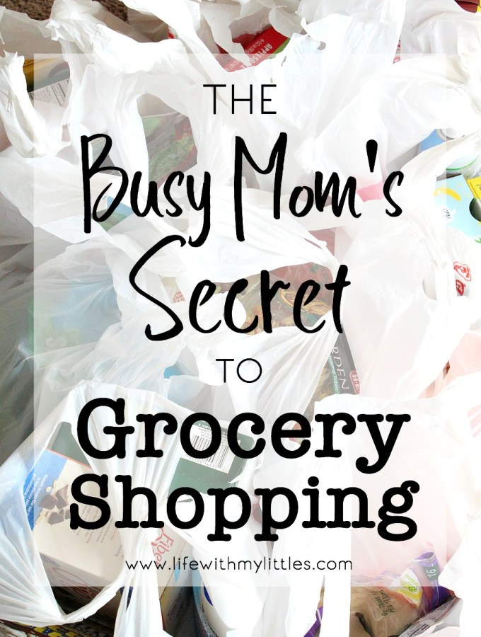 The Busy Mom's Secret to Grocery Shopping