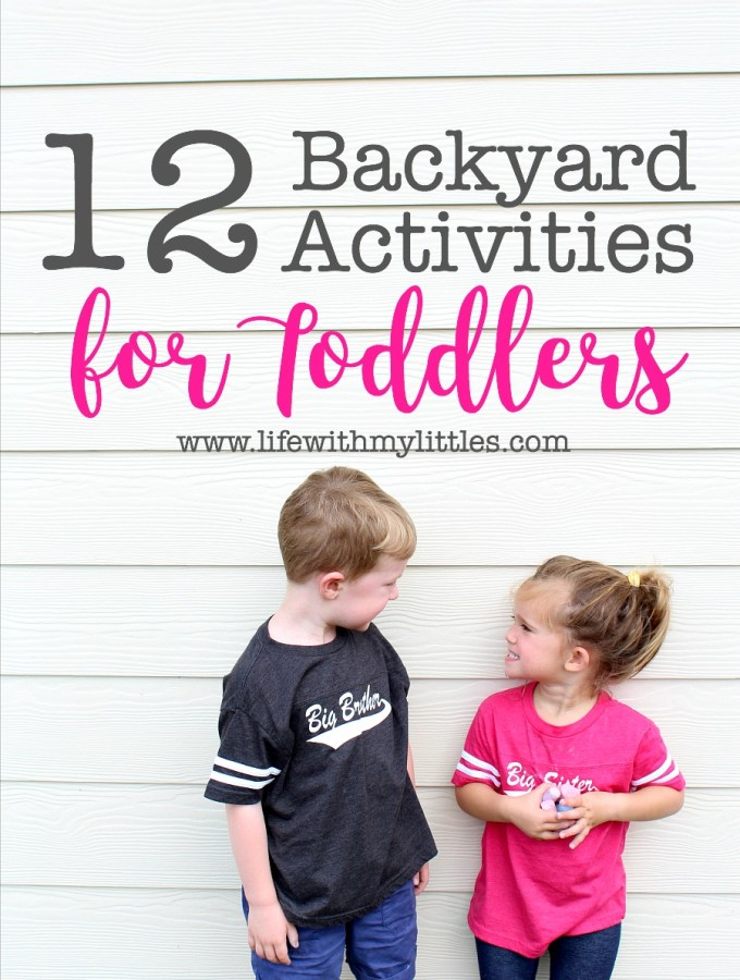 Backyard Activities for Toddlers