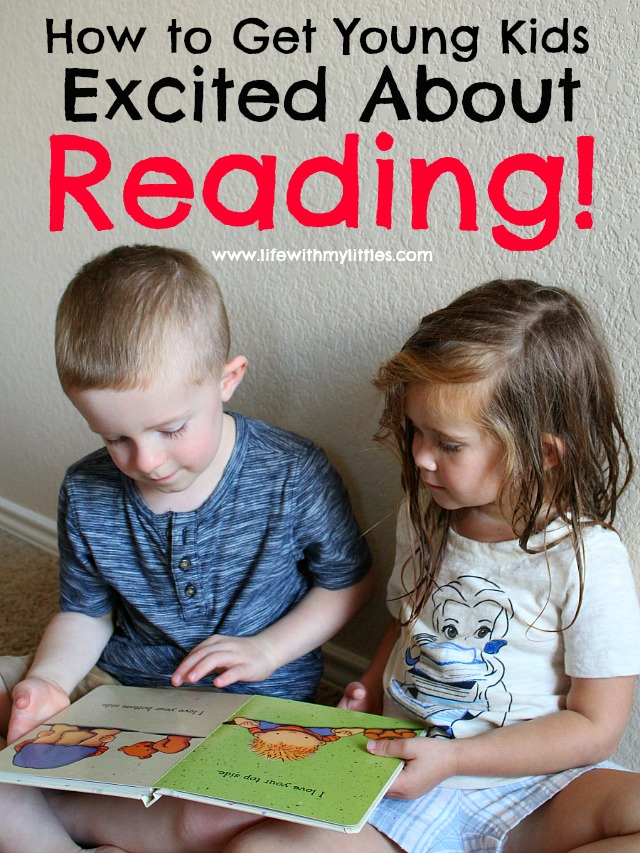Seven clever ways how to get young kids excited about reading. It's never too early to read to your kids, and these tips are genius!